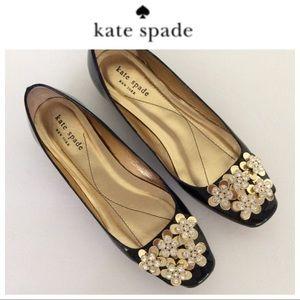 KATE SPADE CRYSTAL BALLET FLATS SIZE 6.5